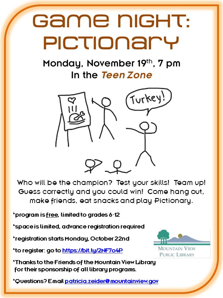 CANCELLED: Game Night: Pictionary