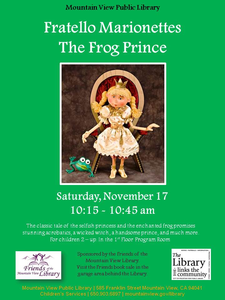 Fratello Marionettes The Frog Prince