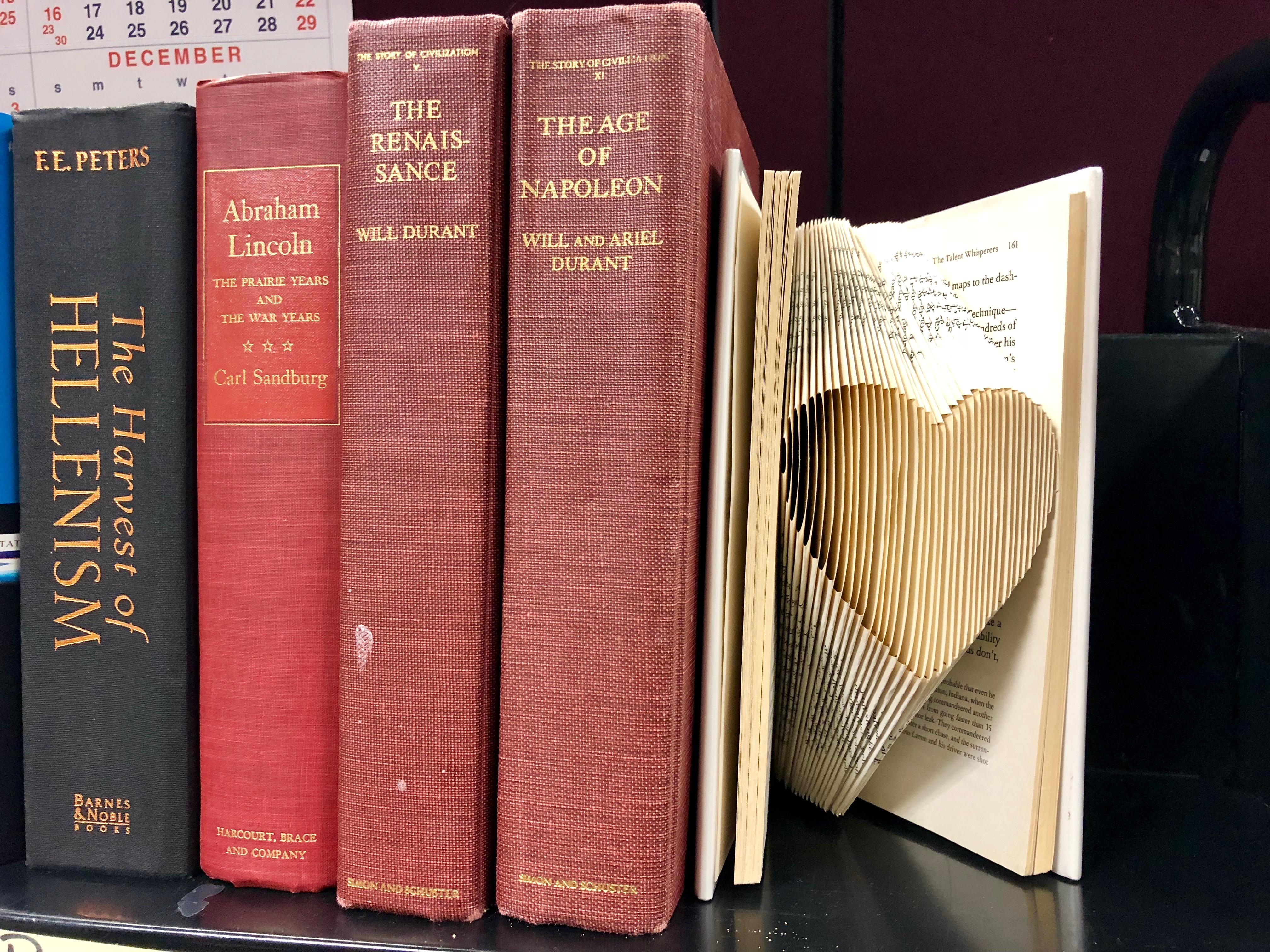 Folded Book Art: Valentines Edition