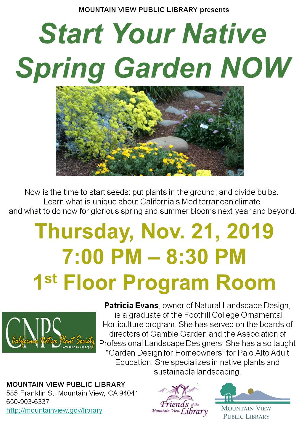 California Native Plant Society: Start Your Native Spring Garden Now