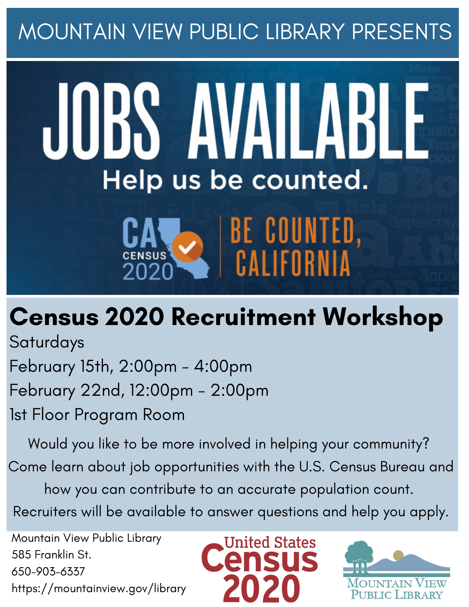 Census 2020 Recruitment Workshop