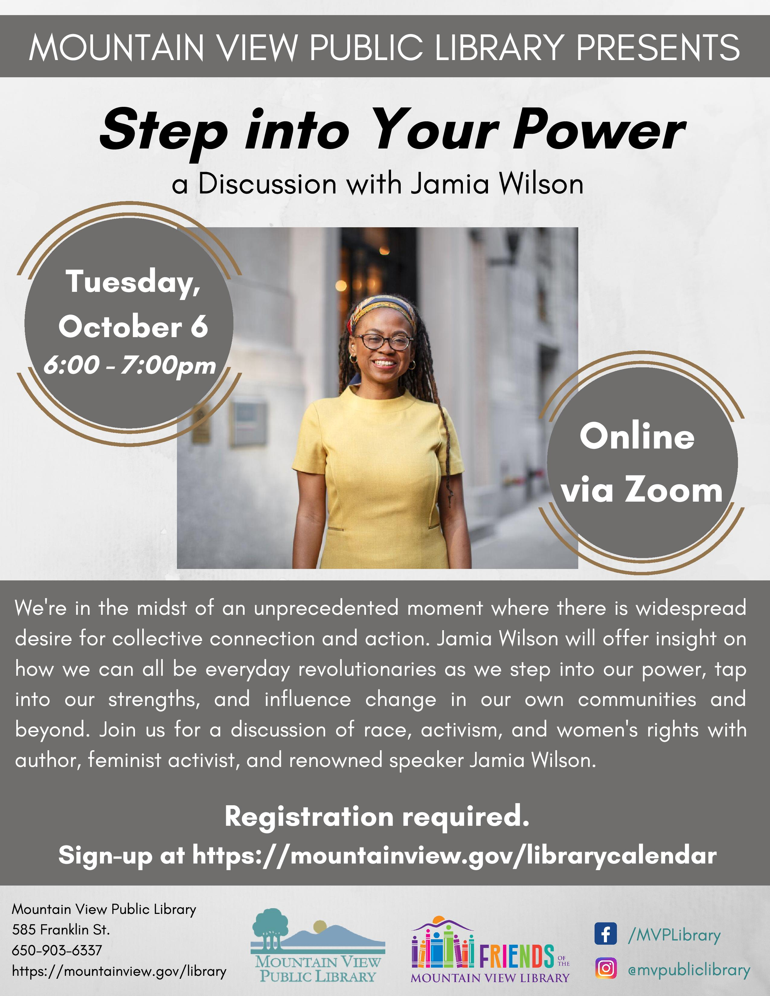 Step into Your Power: a discussion with Jamia Wilson