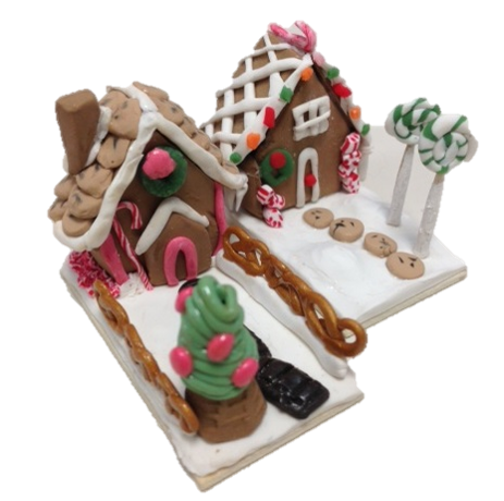 Virtual Adult Crafts: Miniature Gingerbread House