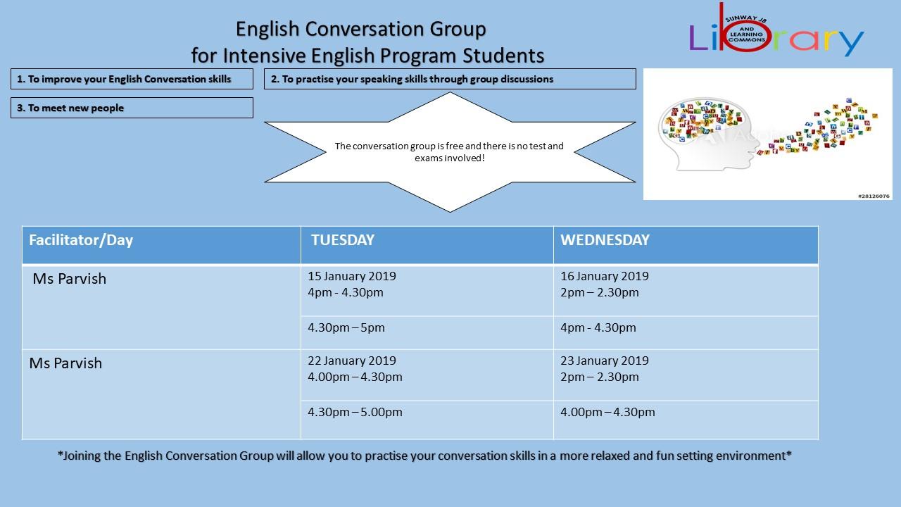 English Conversation Group (IEP)