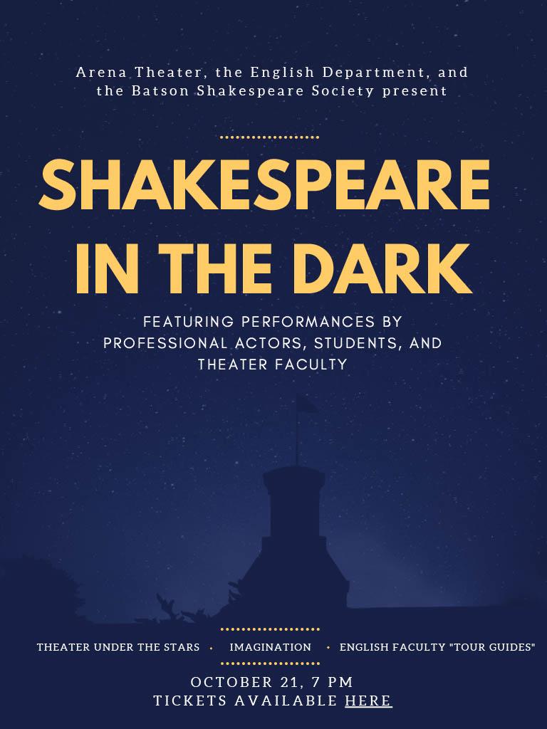Shakespeare in the Dark (8 PM)