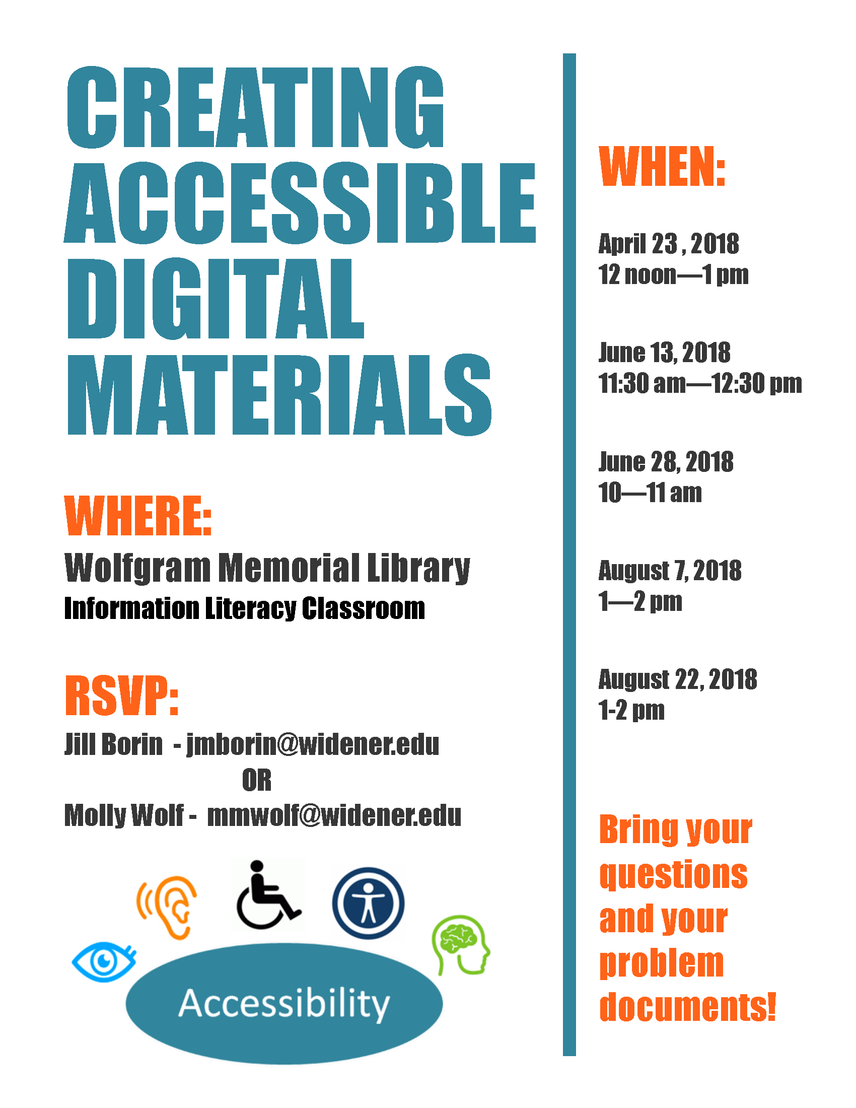 Workshop - Creating accessible Digital Materials