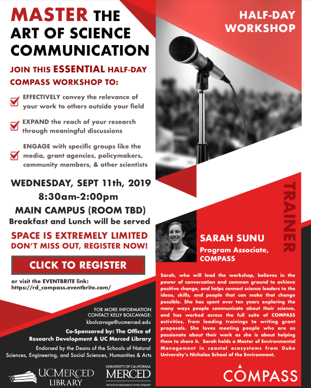 Master the Art of Communication Science- COMPASS Workshop with Sarah Sunu