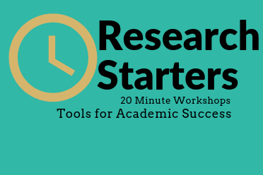 CANCELLED- Research Starters: Start Your Research Smart