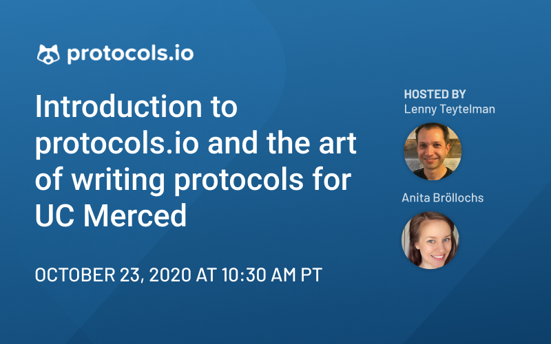 Introduction to protocols.io and the Art of Writing Protocols
