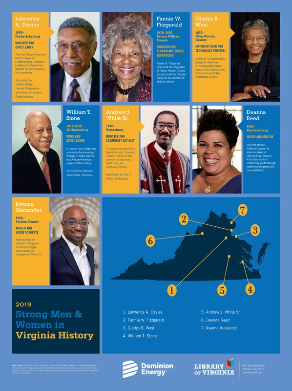 Strong Men and Women in Virginia History Exhibit