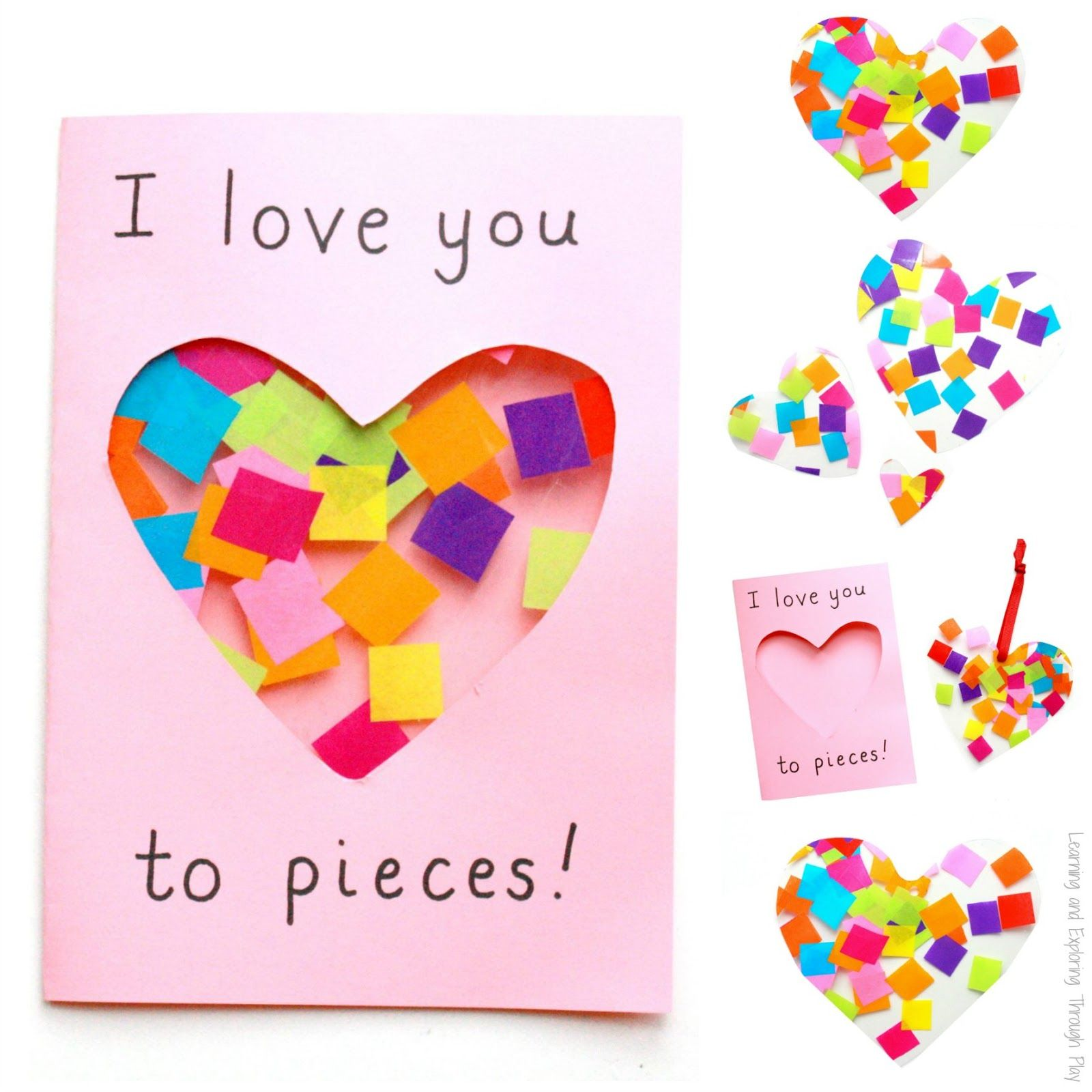 I Heart You Card Making