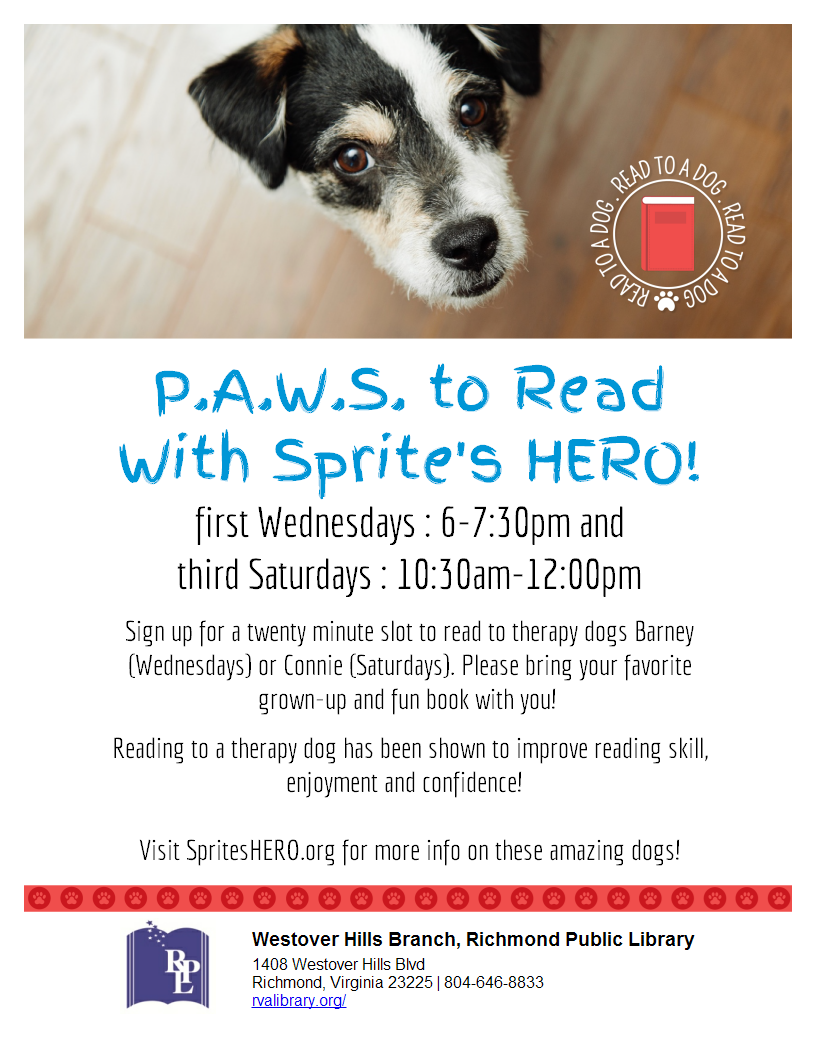 PAWS to Read with Sprite's Hero