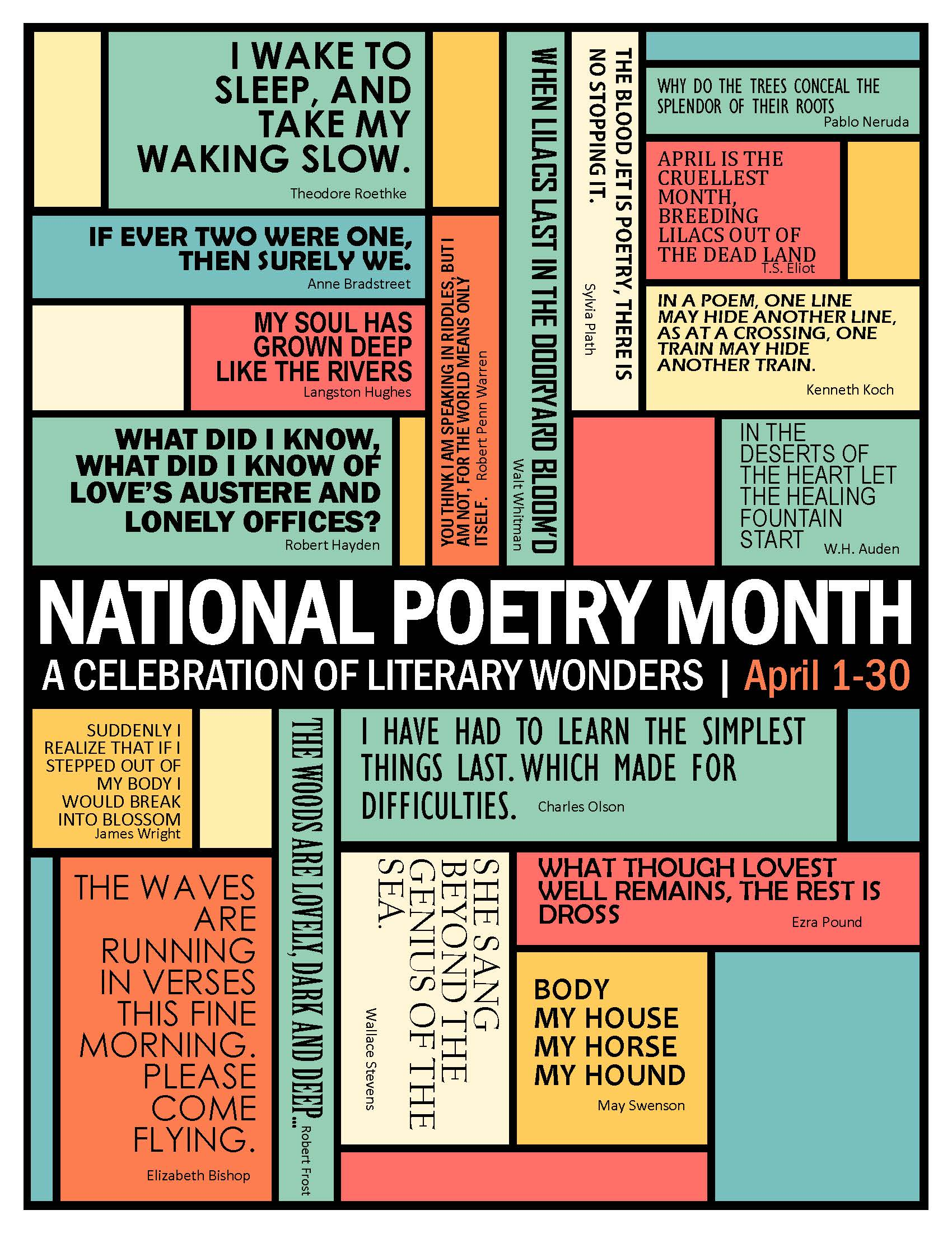 April 1 - 30th National Poetry Month