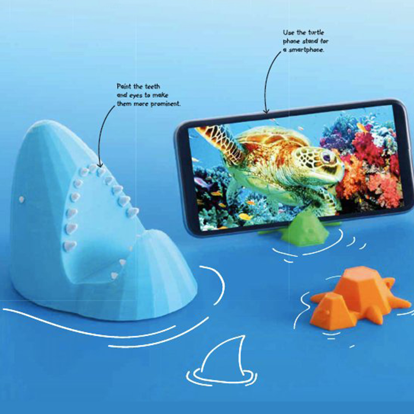 Discover: 3D Printing- Shark or Turtle Phone Stand