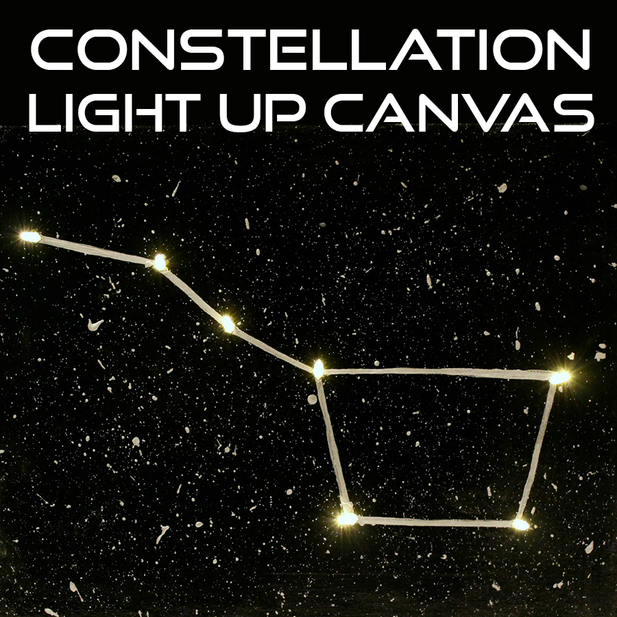Constellation Light Up Canvas