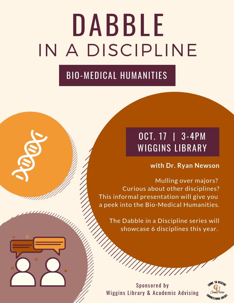 Dabble in a Discipline- Bio-Medical Humanities
