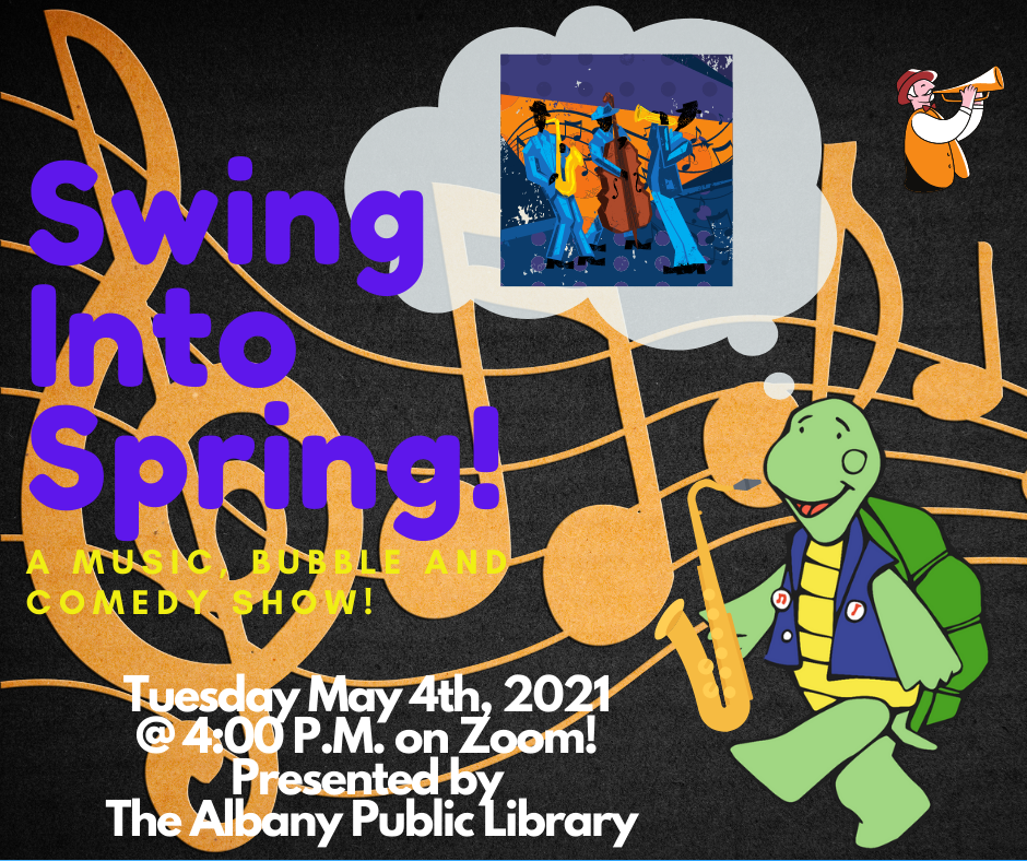 Swing Into Spring! A Music, Bubble and Comedy Show! By Turtle Dance Music