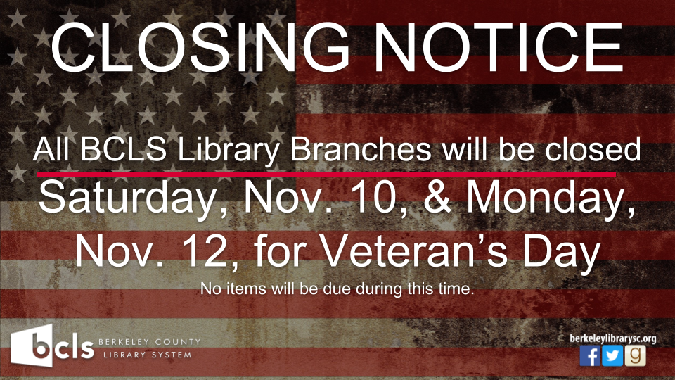 Closed for Veterans Day
