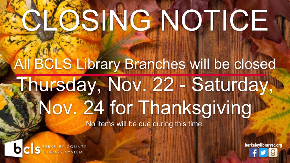 CLOSED: Thanksgiving