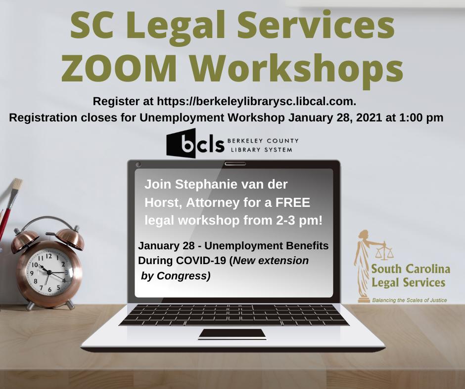 SC Legal Services Zoom Workshop