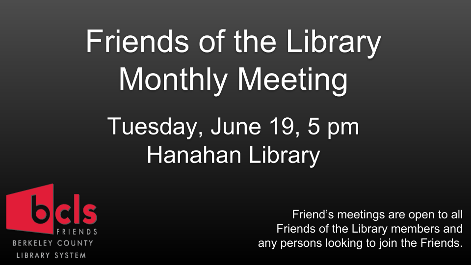 Friends of the Library Monthly Meeting
