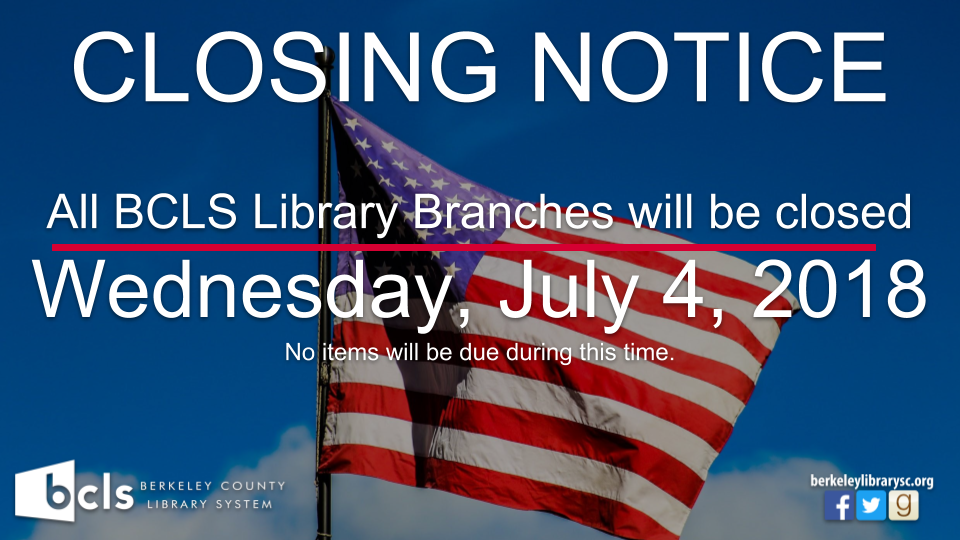 Closed for Fourth of July
