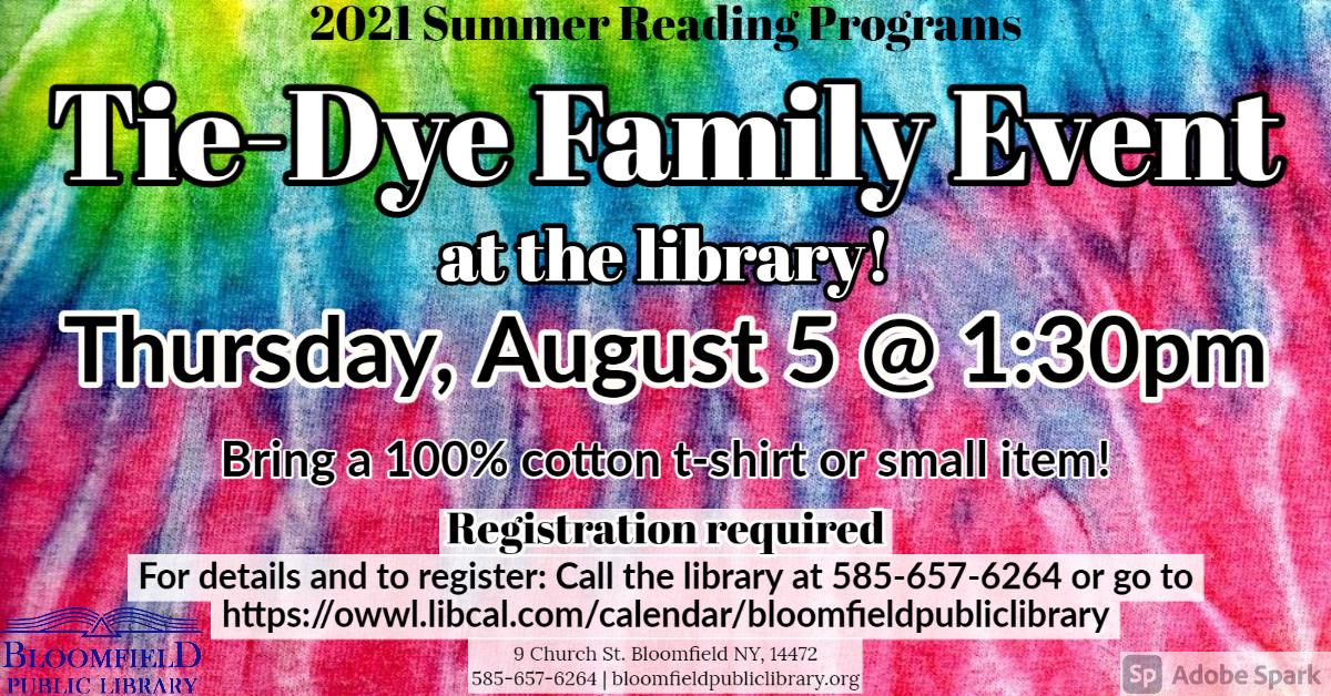 Tie-Dye Family Event!
