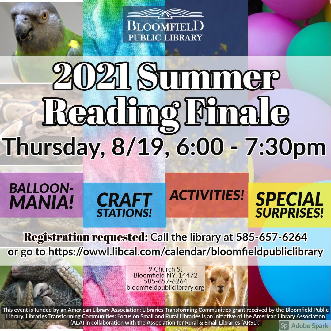 Summer Reading Finale!