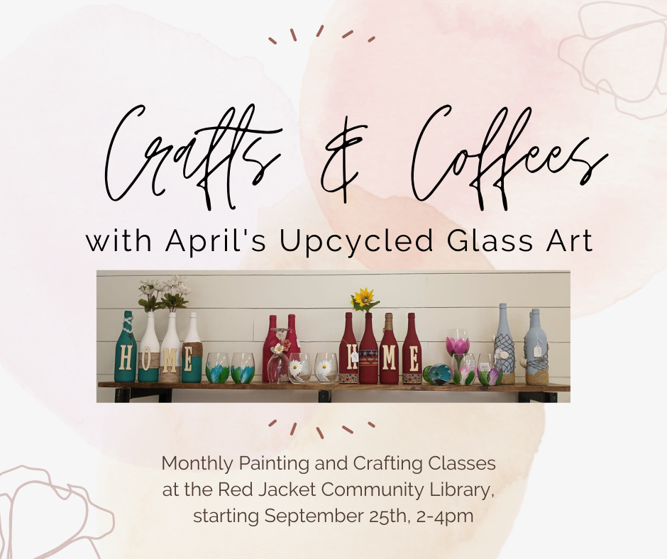 Crafts & Coffees with April's Upcycled Glass Art