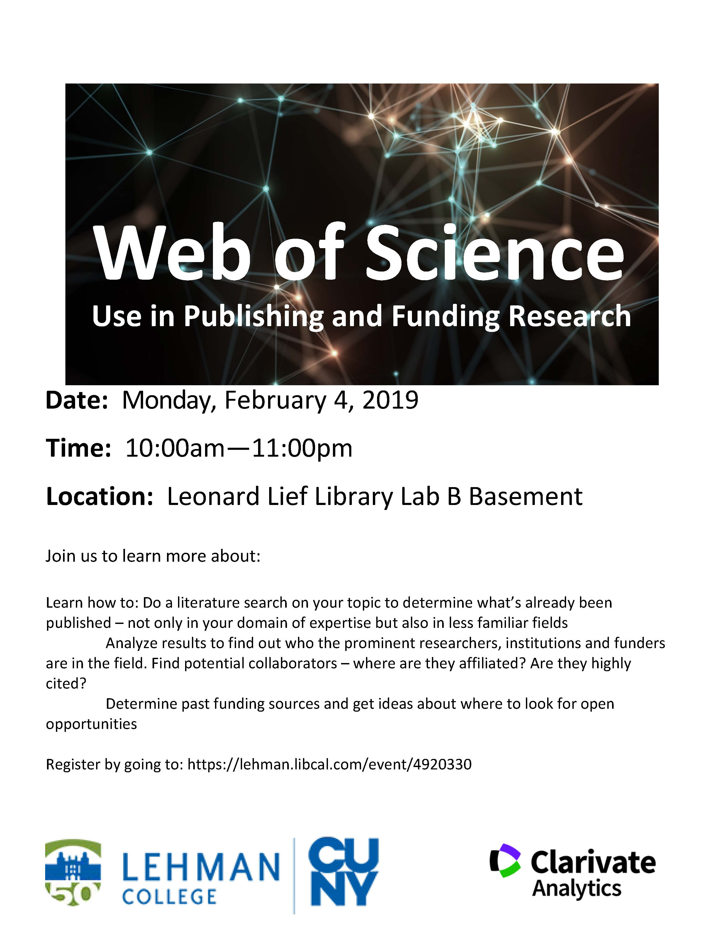 Using Web of Science to Publish in your Discipline and Fund your Research