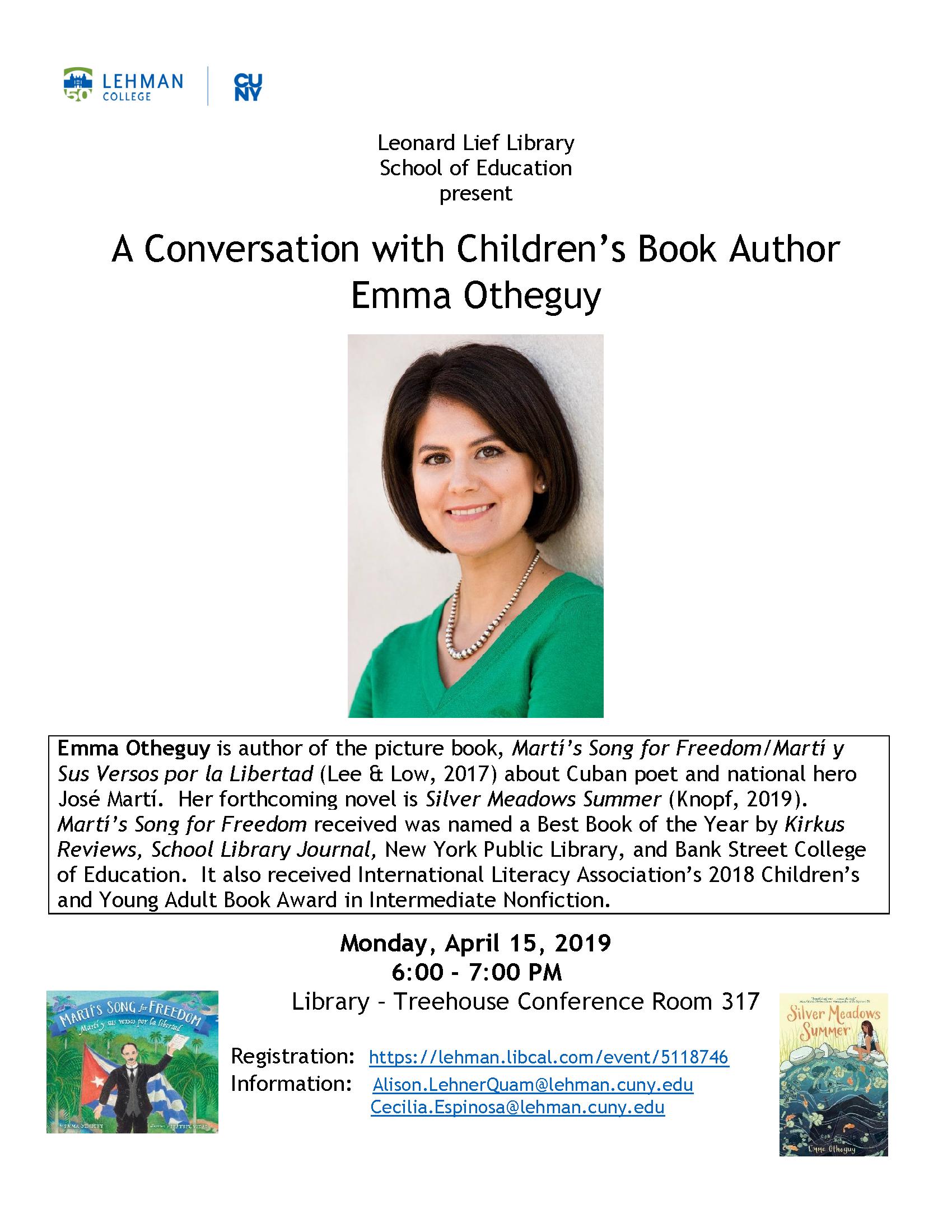 Emma Otheguy: Children's Book Author