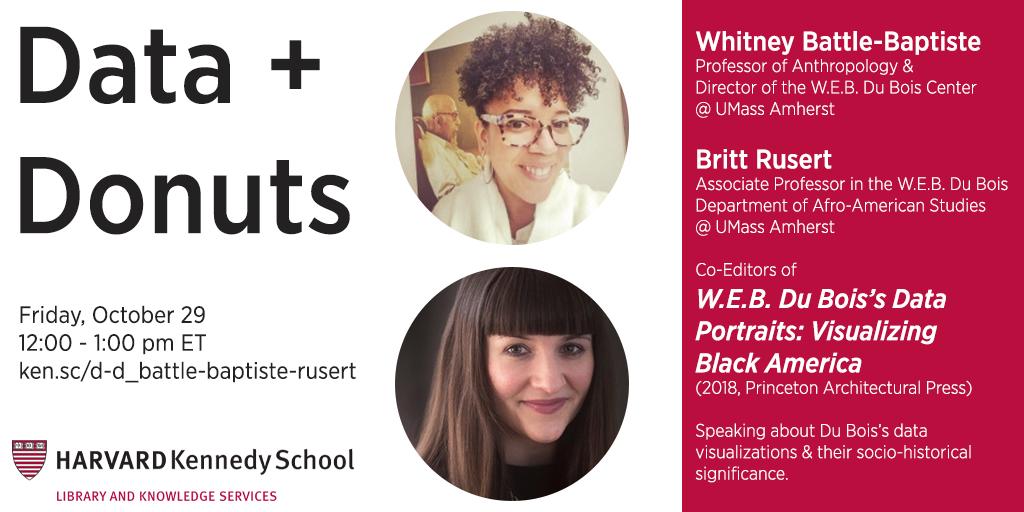 """Data + Donuts // Whitney Battle-Baptiste & Britt Rusert on """"W.E.B. Du Bois's Data Portraits"""""""