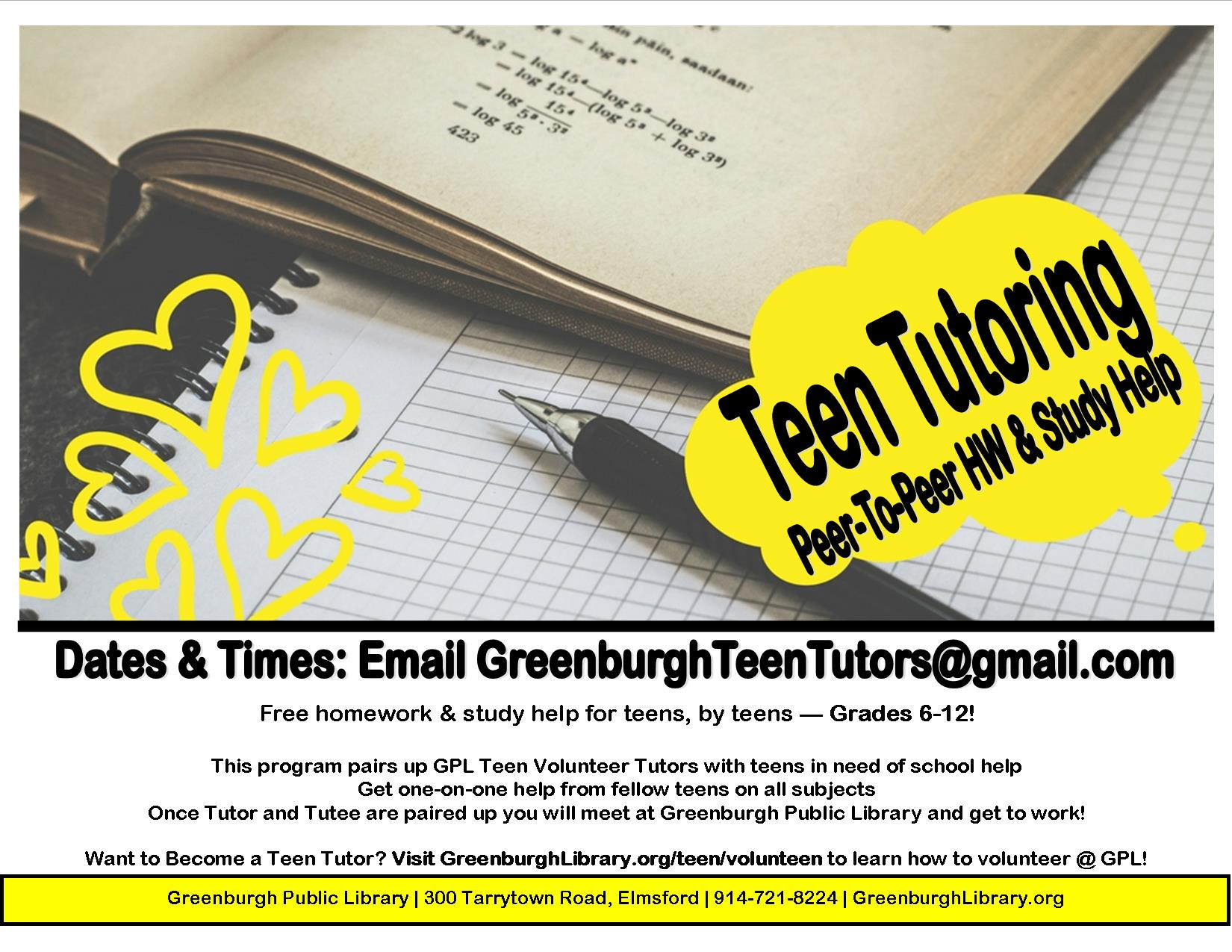 VIRTUAL - Teen Tutoring: Peer-To-Peer Homework & Study Help