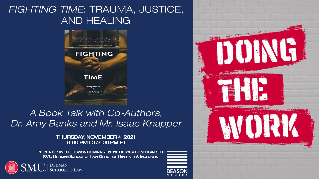 """""""Doing the Work"""" Series: Fighting Time: Trauma, Justice, and Healing, A Book Talk"""