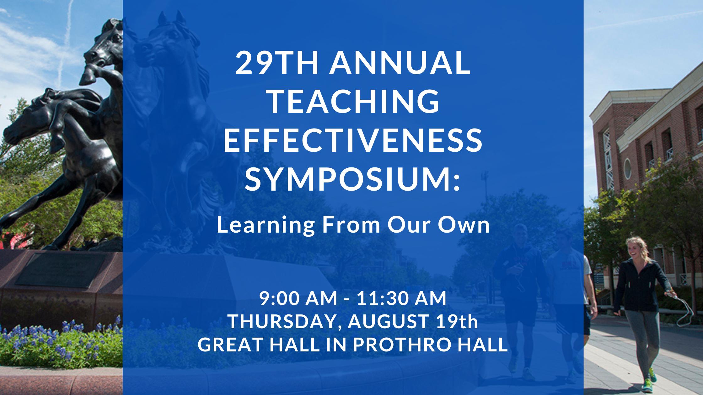Teaching Effectiveness Symposium