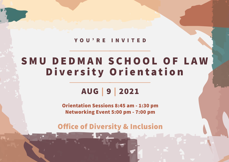 SMU Law Diversity Orientation