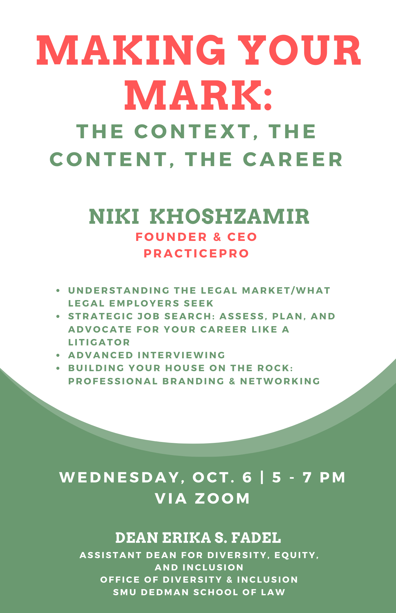 """""""Making Your Mark: The Context, The Content, The Career"""" with Niki Khoshzamir"""
