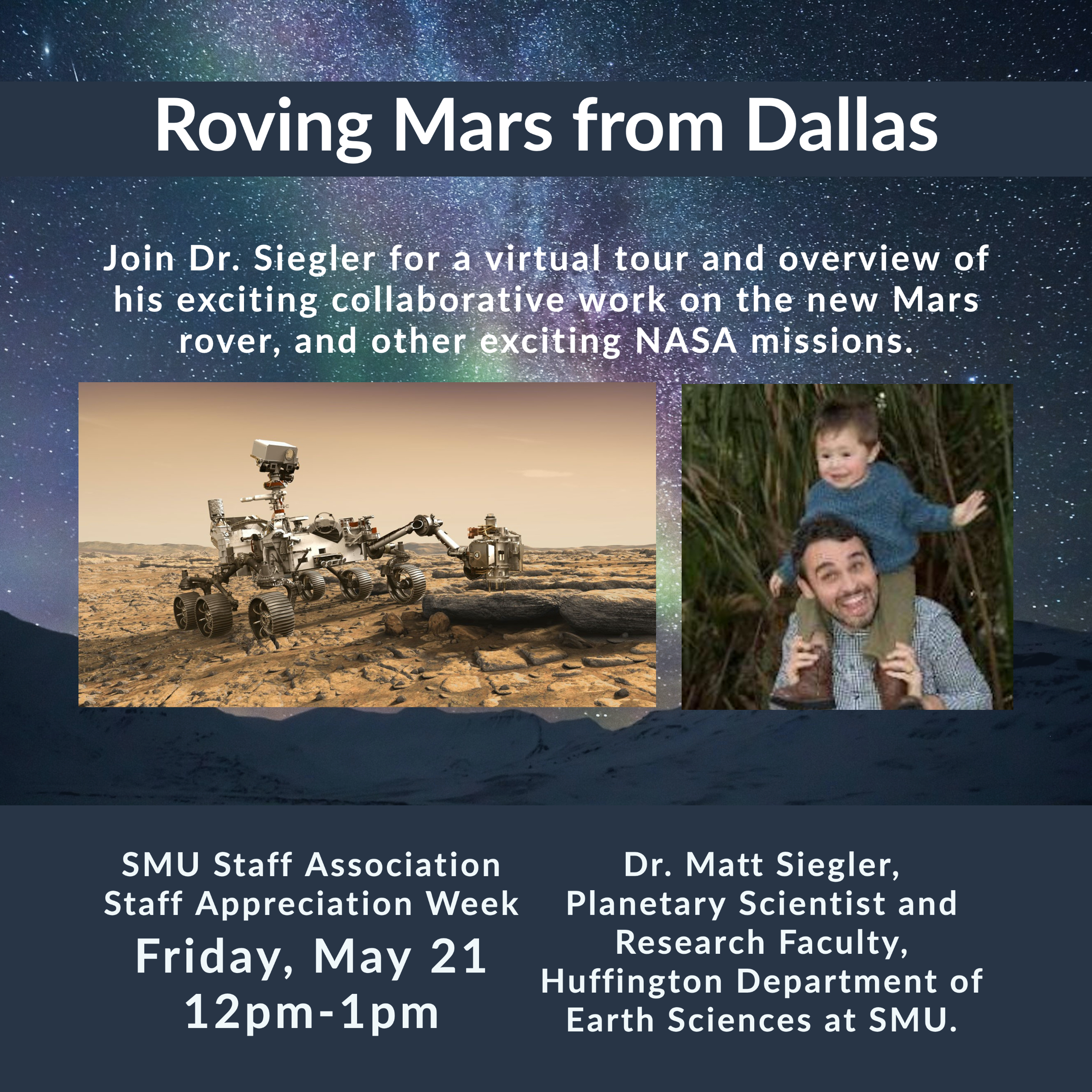 SMUSA Staff Appreciation Week: Roving Mars from Dallas