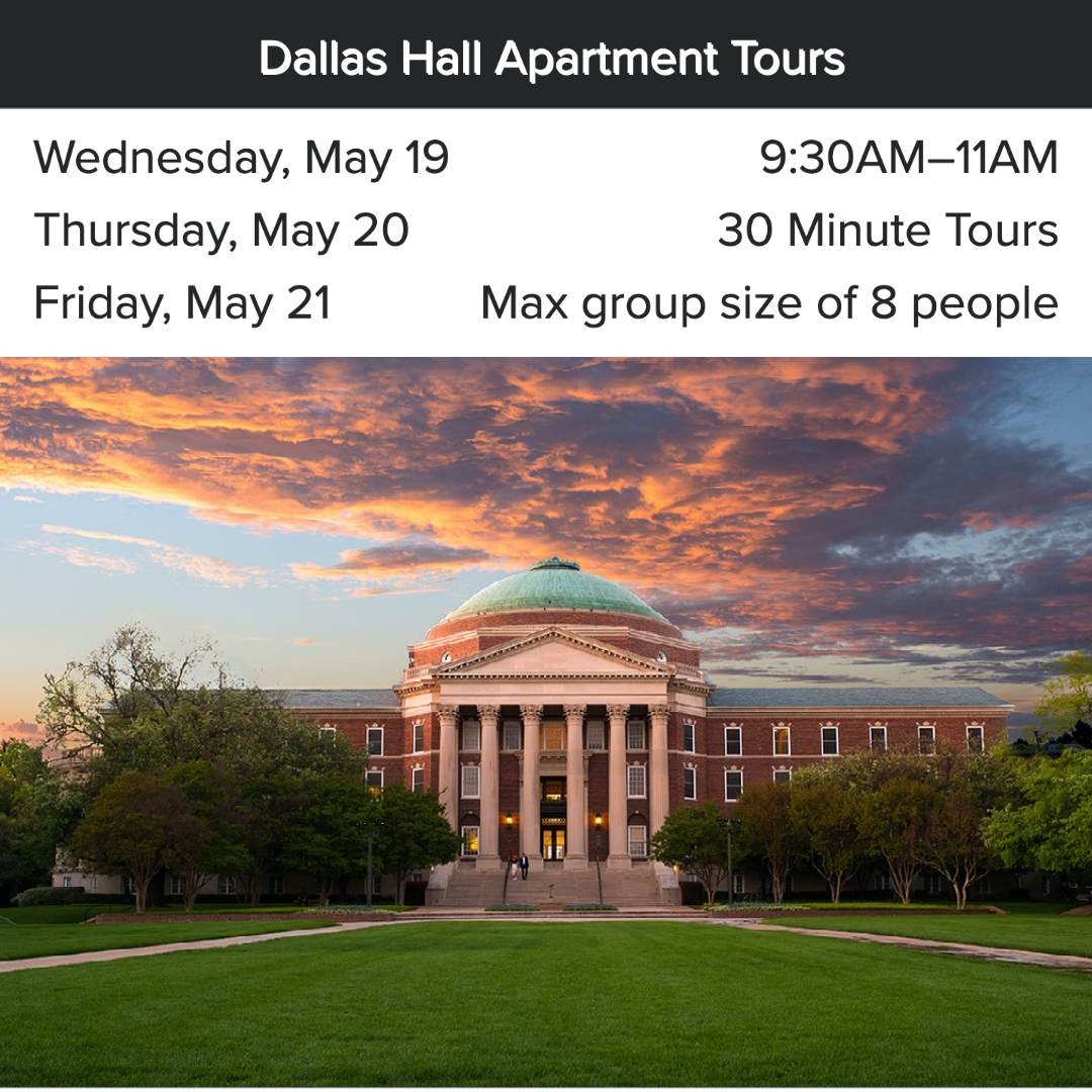 SMUSA Staff Appreciation Week: Dallas Hall Apartment Tour