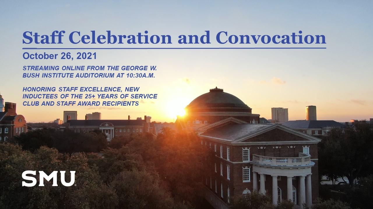 SMU 2021 Staff Celebration and Convocation