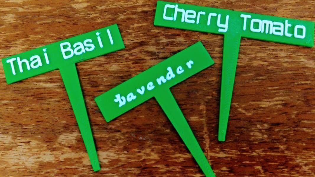 Make a 3D Plant Marker