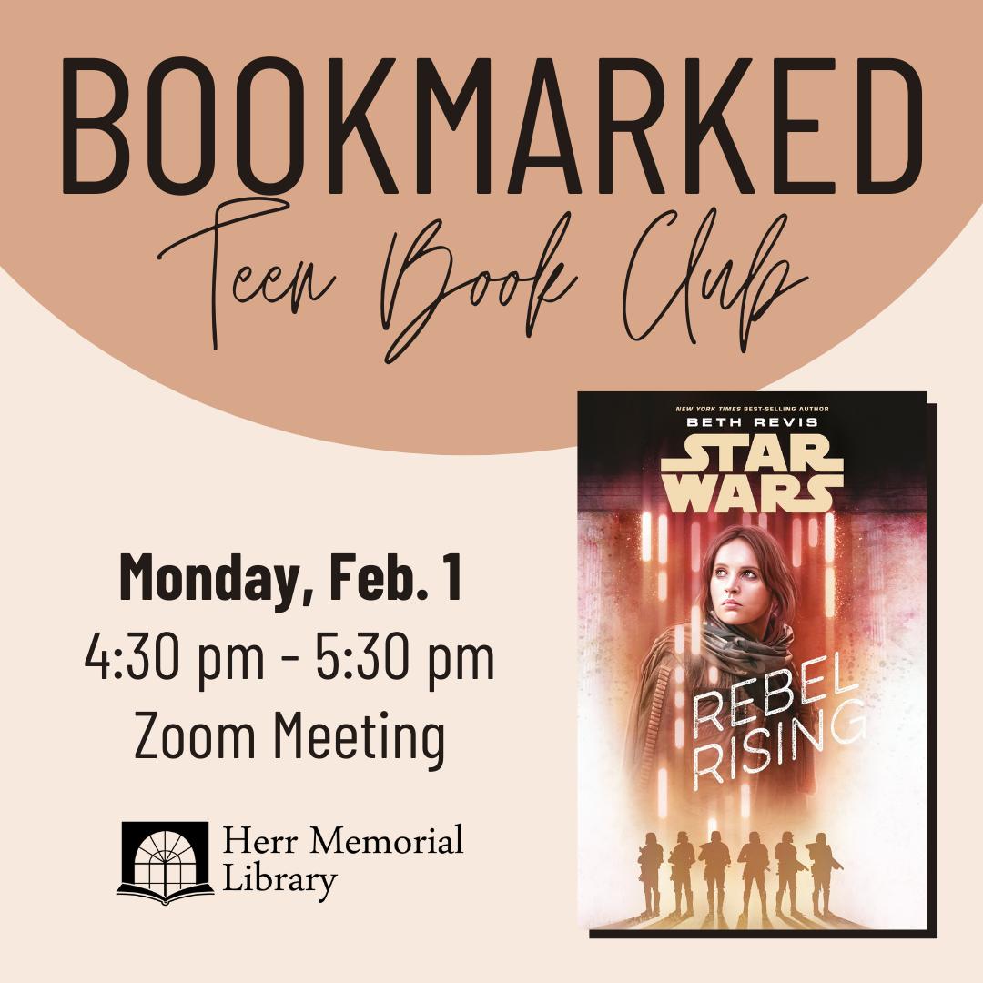 Bookmarked: Teen Book Club Zoom Meeting