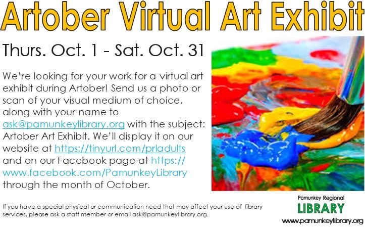 VIRTUAL - Artober Online Art Exhibit