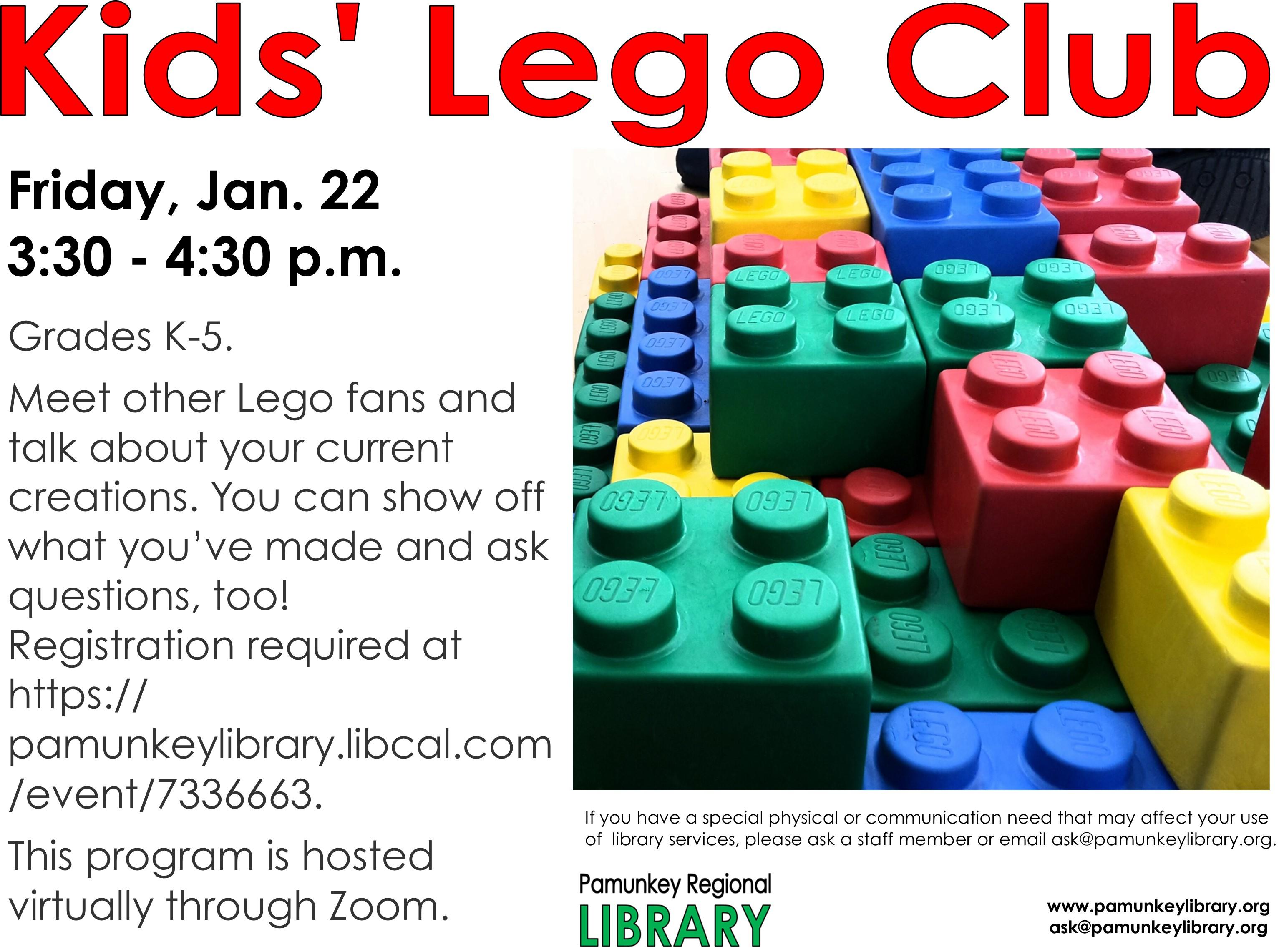 VIRTUAL: Kids' Lego Club