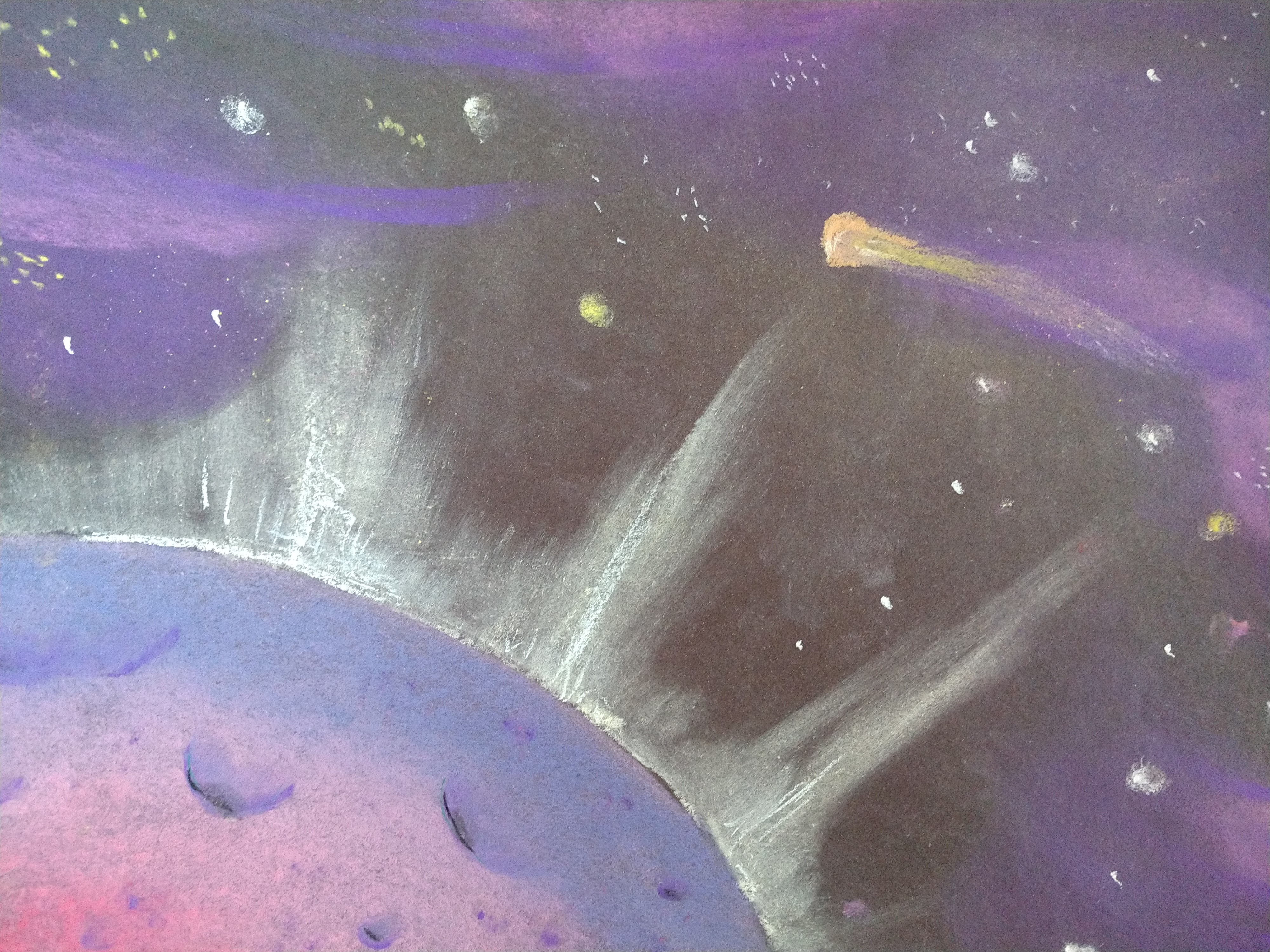 Outer Space Pastel Drawings (Ages 6-11)