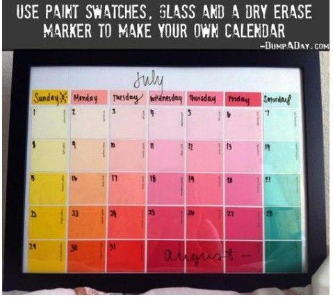 DIY Teen/Tween Paint Swatch Calendar (Ages 10-18)