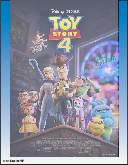 Toy Story 4 Movie Party (Ages 5+)