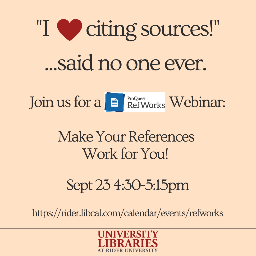 RefWorks Webinar: Make Your References Work for You!