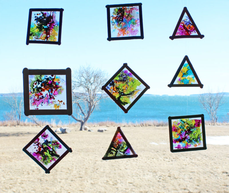 Boredom Busters - Melted Crayon Sun Catchers