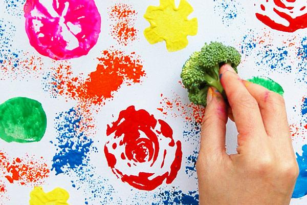 Boredom Busters - Vegetable Printing